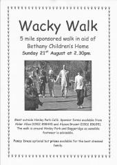 Wacky Walk leaflet